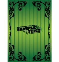 vintage green flyer vector image