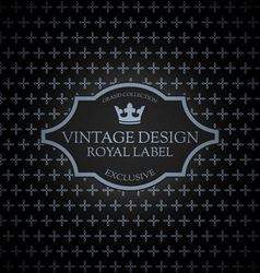 Vintage label card vector image