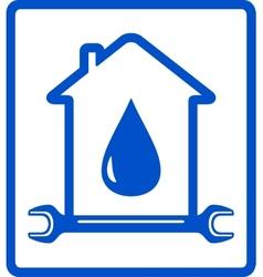 Water in home - plumber symbol vector