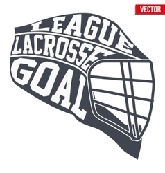 Lacrosse helmet with typography vector image