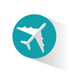 airplane airport travel transport vector image
