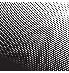 Halftone radial pattern background striped lines vector
