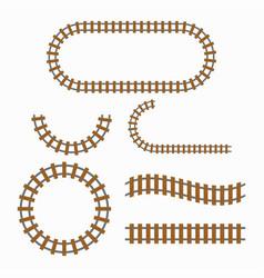 railroad tracks construction vector image