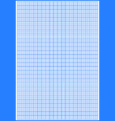 Graph paper with grid cyan color on a4 sheet size vector