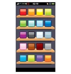 Phone Display Template vector image