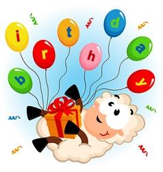 Birthday sheep vector