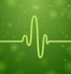 Cardiogram and heartbeat vector
