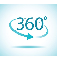 360 degres icon vector image vector image