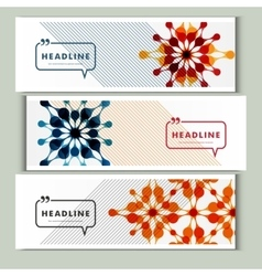 Set of 3 covers with abstract patterns vector