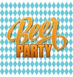 Oktoberfest vintage poster beer festival vector