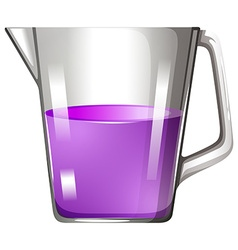 Purple liquid in beaker vector