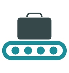 Baggage conveyor flat icon vector