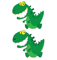 Little smile dino vector