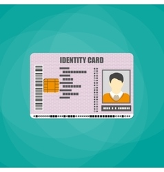 Identification card with barcode electronic chip vector