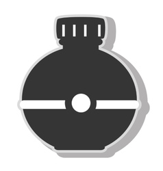 Water bottle object icon vector