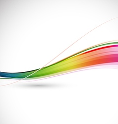 Abstract colorful flowing wave motion background vector
