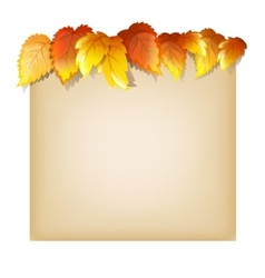 Autumn Design Template vector image vector image