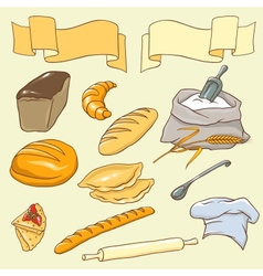 Bread theme vector