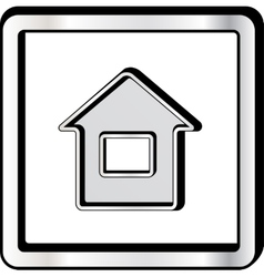 convex house icon vector image vector image