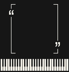 Copyspace frame on piano background vector
