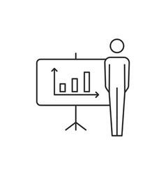 Diagram people icon vector