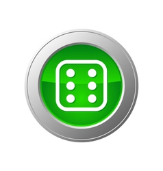 dice button vector image vector image