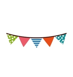 garland decoration party isolated icon vector image vector image