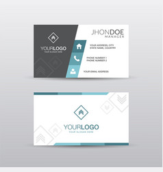 Geometric business cards vector