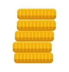 Gold bar block stack vector
