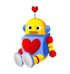 Icon robot and heart shape vector