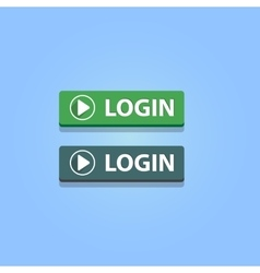 Login buttons vector image