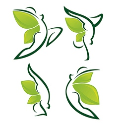 nature fitness vector image