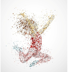Paint splatter dancing girl vector