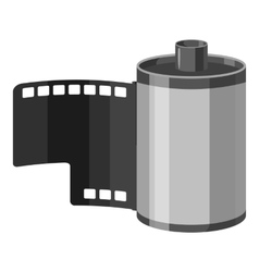 Photographic film icon gray monochrome style vector image vector image