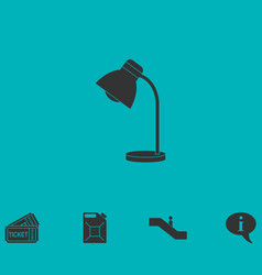 Reading lamp icon flat vector