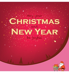 Santa for Christmas and New Year vector image vector image