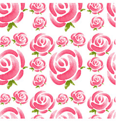 Seamless background with pink roses vector
