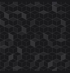 seamless pattern of black cubes vector image vector image