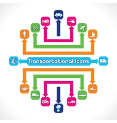 Set of Transportational Icons vector image