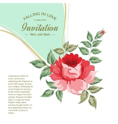 Spring flower for vintage card vector