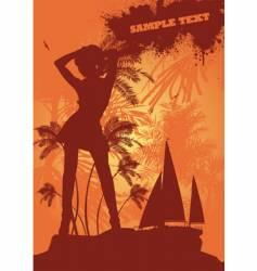 Summer girl dancing vector