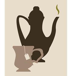 Tea time design vector image vector image