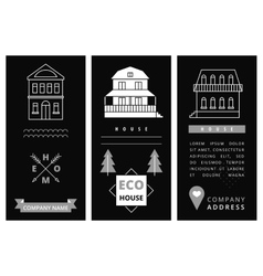 Templates business card with houses vector image vector image