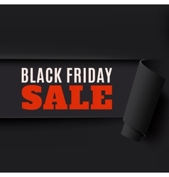 Torn black friday paper background vector