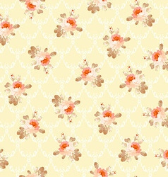 Vintage seamless pattern with pastel roses vector image