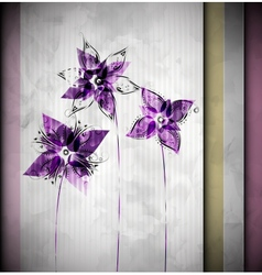 Watercolor background with flowers vector image vector image