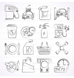 Gas Station Services Icons vector image