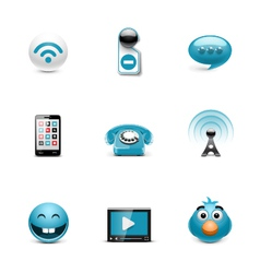 Internet web buttons vector image