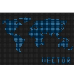 World map dots vector image