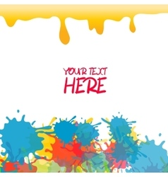 Yellow colored rainbow splash paint vector